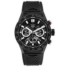 Tag Heuer Carrera Black PVD Steel Chronograph Mens Watch