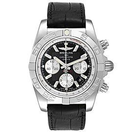 Breitling Chronomat 01 Black Dial Steel Mens Watch AB0110