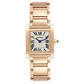Cartier Tank Francaise Rose Gold Quartz Ladies Watch