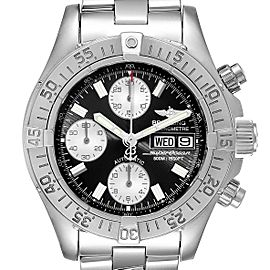 Breitling Aeromarine Superocean Black Dial Steel Mens Watch A13340