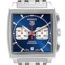 Tag Heuer Monaco Blue Dial Automatic Chronograph Mens Watch CW2113 Box Card