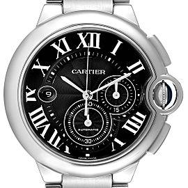 Cartier Ballon Bleu XL Black Dial Cronograph Steel Mens Watch W6920077