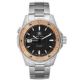 Tag Heuer Aquaracer 43mm Steel Rose Gold Mens Watch