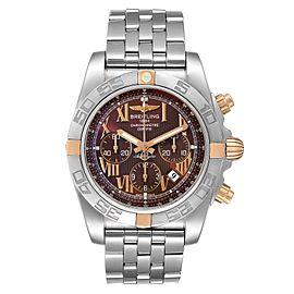 Breitling Chronomat Bronze Dial Steel Rose Gold Mens Watch