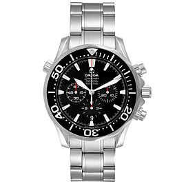 Omega Seamaster Chronograph Black Dial Steel Mens Watch 2594.52.00 Card