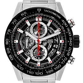 Tag Heuer Carrera Skeleton Dial Chronograph Mens Watch CAR2A1W Box Card