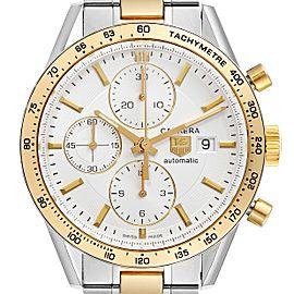 Tag Heuer Carrera Steel Yellow Gold Chronograph Mens Watch CV2050 Card