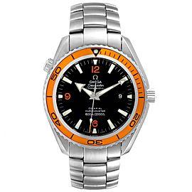 Omega Seamaster Planet Ocean Orange Bezel Steel Mens Watch 2209.50.00