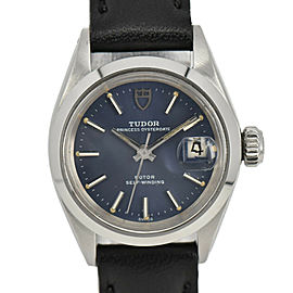 TUDOR Princess Oyster Date 7616/0 Blue Dial Automatic Ladies Watch