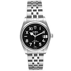 Tudor Prince Date Midsize Black Dial Steel Unisex Watch 72000 Box Papers