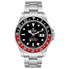 Rolex GMT Master II Black Red Coke Bezel Steel Mens Watch