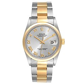 Rolex Datejust 36 Steel Yellow Gold Slate Dial Mens Watch