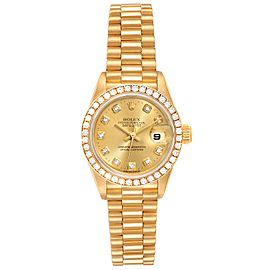 Rolex President Datejust Yellow Gold Diamond Ladies Watch 79138 Box Papers