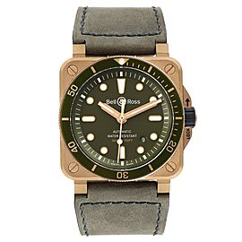 Bell & Ross Diver Green Dial Limited Edition Bronze Mens Watch BR0392