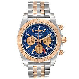 Breitling Chronomat Evolution 44 GMT Steel Rose Gold Watch