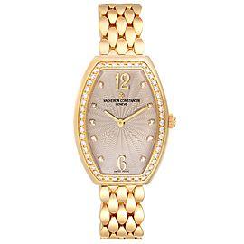 Vacheron Constantin Egerie Rose Gold Diamond Ladies Watch 25540 Box Papers
