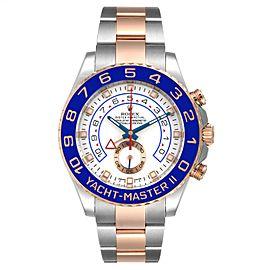 Rolex Yachtmaster II Rolesor EveRose Gold Steel Mens Watch