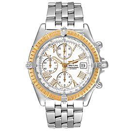 Breitling Chronomat Crosswind Steel Yellow Gold Mens Watch D13055