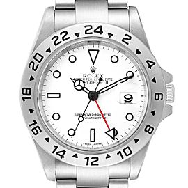 Rolex Explorer II 40mm White Dial Steel Mens Watch 16570