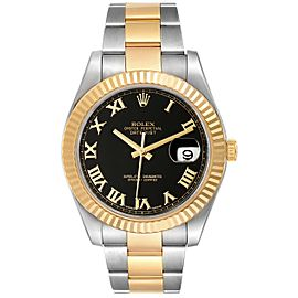 Rolex Datejust II Steel Yellow Gold Black Dial Mens Watch