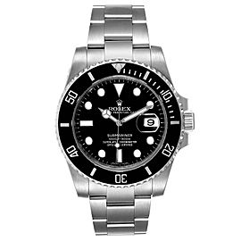 Rolex Submariner Black Dial Ceramic Bezel Steel Mens Watch