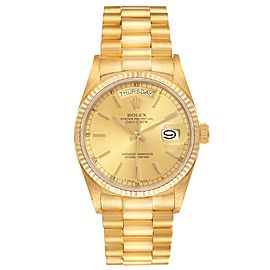 Rolex President Day-Date 36mm 18k Yellow Gold Mens Watch 18038