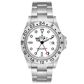 Rolex Explorer II 40mm White Dial Parachrom Hairspring Watch 16570 Box Card