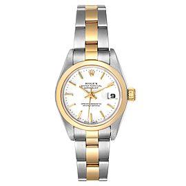 Rolex Datejust Steel Yellow Gold White Dial Ladies Watch