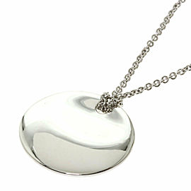 TIFFANY & Co. Silver Round plate Necklace