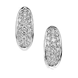 18K White Gold 2.00ct Diamond Hoop Earrings