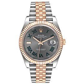 Rolex Datejust 41 Steel Everose Gold Wimbledon Dial Watch