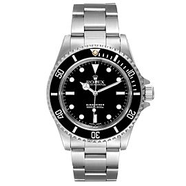 Rolex Submariner 40mm Non-Date 2 Liner Steel Mens Watch 14060 Box Papers