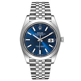 Rolex Datejust 41 Blue Dial Jubilee Bracelet Steel Watch