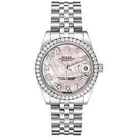 Rolex Datejust Midsize Steel White Gold MOP Diamond Watch