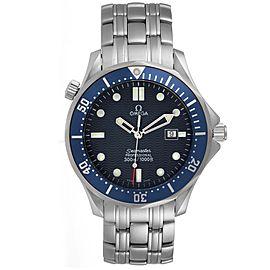 Omega Seamaster 41mm James Bond Blue Dial Steel Watch 2541.80.00 Card
