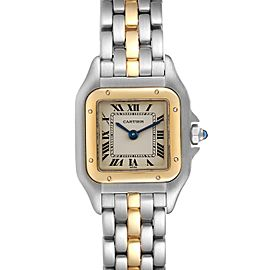 Cartier Panthere Ladies Steel Yellow Gold One Row Ladies Watch W25029B5
