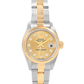 Rolex Datejust 26 Ladies Steel Yellow Gold Diamond Ladies Watch 79163