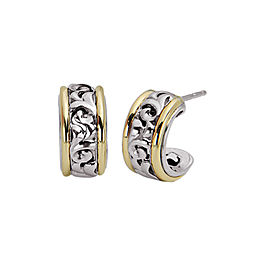Charles Krypell 18k Yellow Gold and Sterling Silver Earrings
