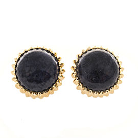 14K Yellow Gold with Lapis Lazuli Clip & Post Earrings