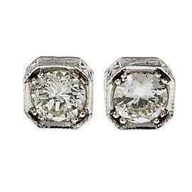 18K White Gold 1.35ct Diamond Stud Earrings