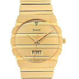 Piaget Polo 18K Yellow Gold Day Date Mens Watch 15562c701