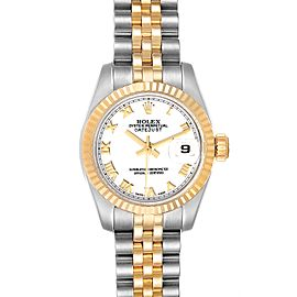 Rolex Datejust 26 Steel Yellow Gold White Dial Ladies Watch 179173 Box Card