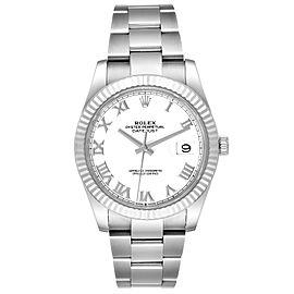Rolex Datejust 41 Steel White Gold White Dial Mens Watch