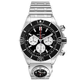 Breitling Chronomat B01 Black Dial Steel Mens Watch AB0136 Unworn