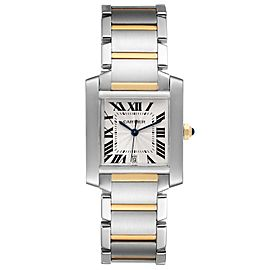 Cartier Tank Francaise Steel Yellow Gold Large Watch W51005Q4