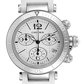Cartier Pasha Seatimer Chronograph Steel Ladies Watch W3140005