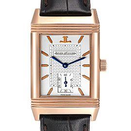 Jaeger LeCoultre Reverso Art Deco Rose Gold Mens Watch 270.2.62 Q270262