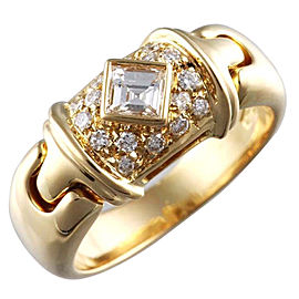 Bvlgari 18K Yellow Gold Diamond Bvlgari Ring Size 5