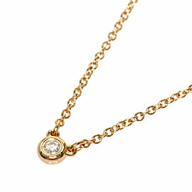 TIFFANY & Co. 18k Pink Gold Diamond By The Yard Necklace