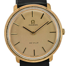 Omega Deville TOOL 104 GP/Leather Hand-winding Men's Watch